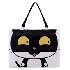 Panda Cat Medium Zipper Tote Bag