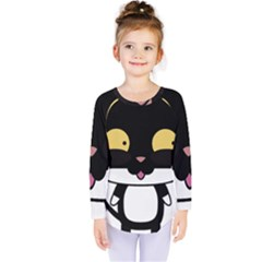 Panda Cat Kids  Long Sleeve Tee
