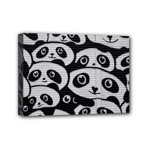 Panda Bg Mini Canvas 7  x 5