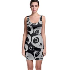 Panda Bg Sleeveless Bodycon Dress