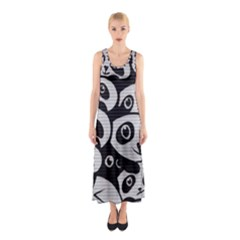 Panda Bg Sleeveless Maxi Dress