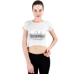 Mud-di Signature Title  Crew Neck Crop Top