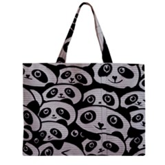 Panda Bg Zipper Mini Tote Bag