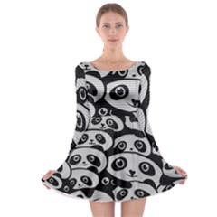 Panda Bg Long Sleeve Skater Dress