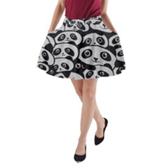 Panda Bg A-Line Pocket Skirt