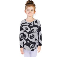 Panda Bg Kids  Long Sleeve Tee
