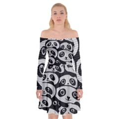 Panda Bg Off Shoulder Skater Dress