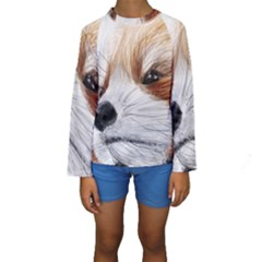 Panda Art Kids  Long Sleeve Swimwear