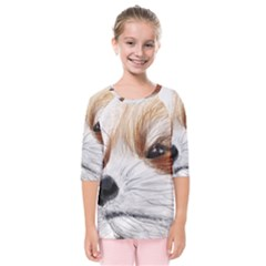 Panda Art Kids  Quarter Sleeve Raglan Tee