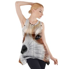 Panda Art Side Drop Tank Tunic