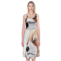 Panda Art Midi Sleeveless Dress