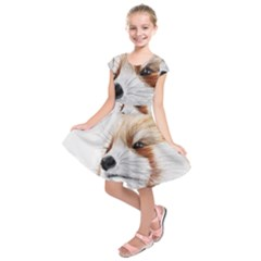 Panda Art Kids  Short Sleeve Dress
