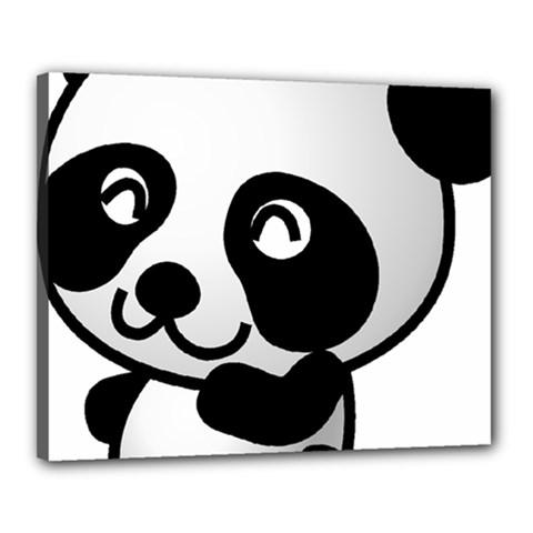 Adorable Panda Canvas 20  x 16