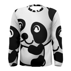 Adorable Panda Men s Long Sleeve Tee
