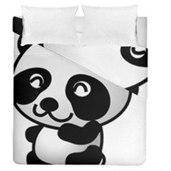 Adorable Panda Duvet Cover Double Side (Queen Size)