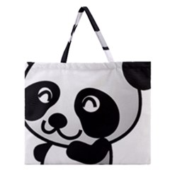 Adorable Panda Zipper Large Tote Bag
