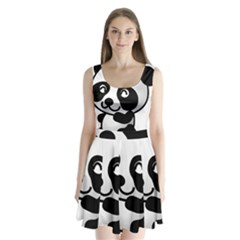 Adorable Panda Split Back Mini Dress