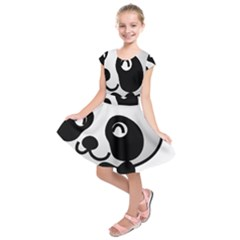 Adorable Panda Kids  Short Sleeve Dress