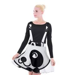 Adorable Panda Suspender Skater Skirt