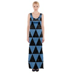 TRI3 BK-MRBL BL-PNCL Maxi Thigh Split Dress