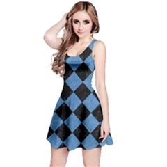 SQR2 BK-MRBL BL-PNCL Reversible Sleeveless Dress