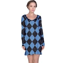 SQR2 BK-MRBL BL-PNCL Long Sleeve Nightdress