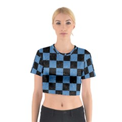 SQR1 BK-MRBL BL-PNCL Cotton Crop Top