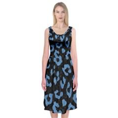 SKN5 BK-MRBL BL-PNCL (R) Midi Sleeveless Dress