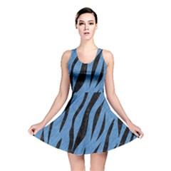 SKN3 BK-MRBL BL-PNCL (R) Reversible Skater Dress