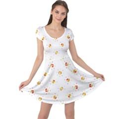 Geometric Pattern 197 170324 Cap Sleeve Dresses
