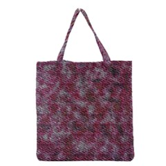Pink texture                 Grocery Tote Bag