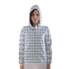 Geometric Pattern 195 C2 170321 Hooded Wind Breaker (Women)