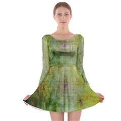 Grunge texture               Long Sleeve Skater Dress