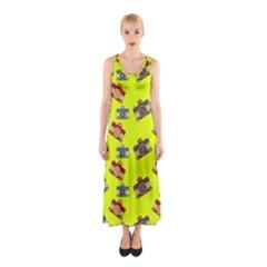 Camera pattern                Full Print Maxi Dress