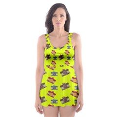 Camera pattern                Skater Dress Swimsuit