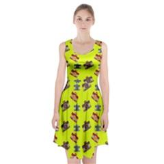 Camera pattern                    Racerback Midi Dress