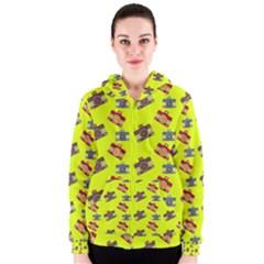 Camera pattern                Women s Zipper Hoodie