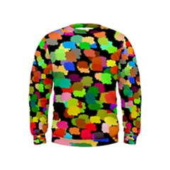 Colorful paint on a black background                  Kid s Sweatshirt