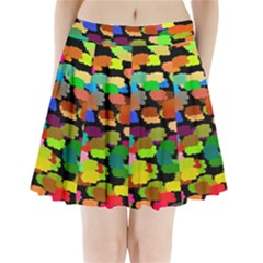 Colorful paint on a black background             Pleated Mini Mesh Skirt