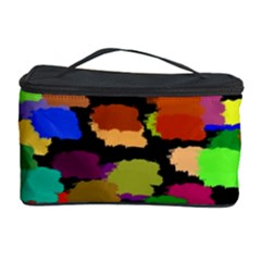 Colorful paint on a black background                 Cosmetic Storage Case