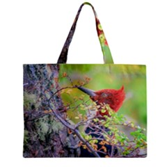 Woodpecker At Forest Pecking Tree, Patagonia, Argentina Zipper Mini Tote Bag