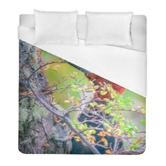 Woodpecker At Forest Pecking Tree, Patagonia, Argentina Duvet Cover (Full/ Double Size)