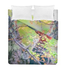 Woodpecker At Forest Pecking Tree, Patagonia, Argentina Duvet Cover Double Side (Full/ Double Size)