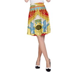 Coat of Arms of The Kingdom of Italy A-Line Skirt
