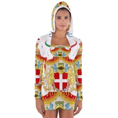 Coat of Arms of The Kingdom of Italy Women s Long Sleeve Hooded T-shirt