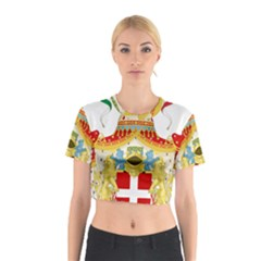Coat of Arms of The Kingdom of Italy Cotton Crop Top