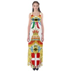 Coat of Arms of The Kingdom of Italy Empire Waist Maxi Dress