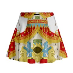 Coat of Arms of The Kingdom of Italy Mini Flare Skirt