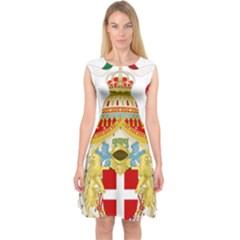 Coat of Arms of The Kingdom of Italy Capsleeve Midi Dress