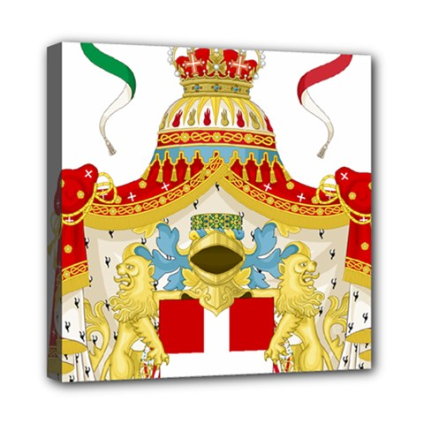 Coat of Arms of The Kingdom of Italy Mini Canvas 8  x 8